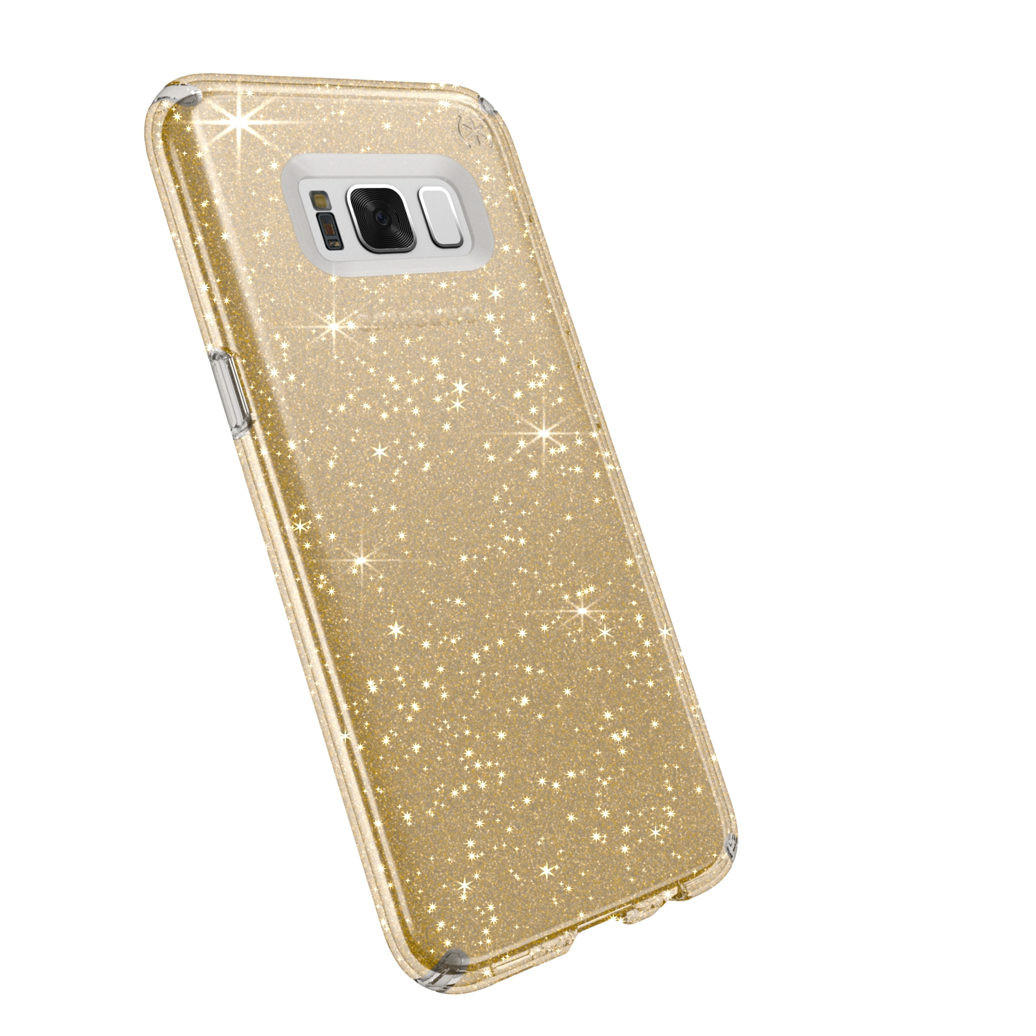 Search and compare best prices of Speck Presidio Clear with Glitter Samsung Galaxy S8 Plus Cases Clear/Gold Glitter in UK
