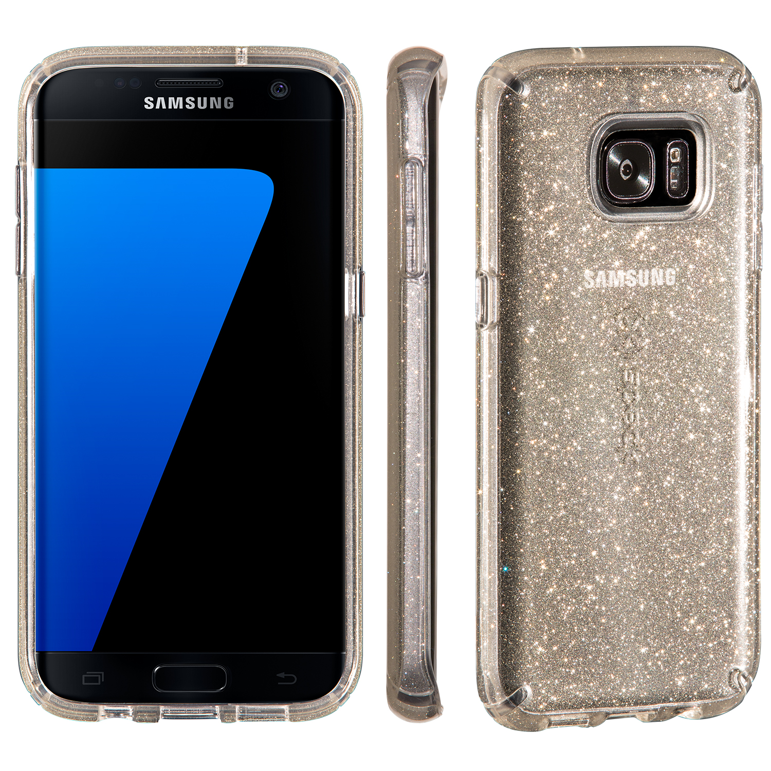 Search and compare best prices of Speck CandyShell Clear with Glitter Samsung Galaxy S7 edge Cases Clear/Gold Glitter in UK
