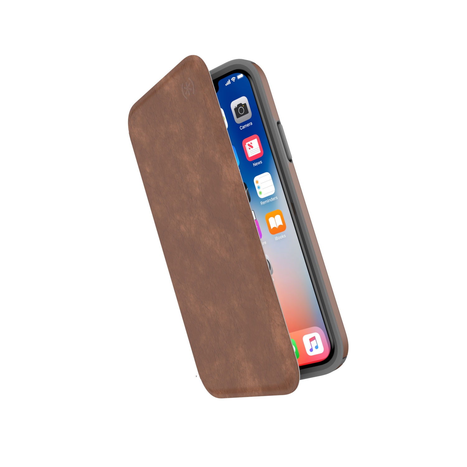 Compare retail prices of Presidio Folio Leather iPhone X Cases Saddle Brown/Light Graphite Grey to get the best deal online