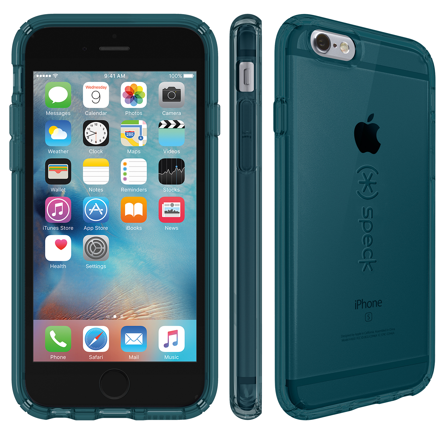 Compare prices for Speck CandyShell Clear iPhone 6s Plus and iPhone 6 Plus Cases Rainstorm Blue