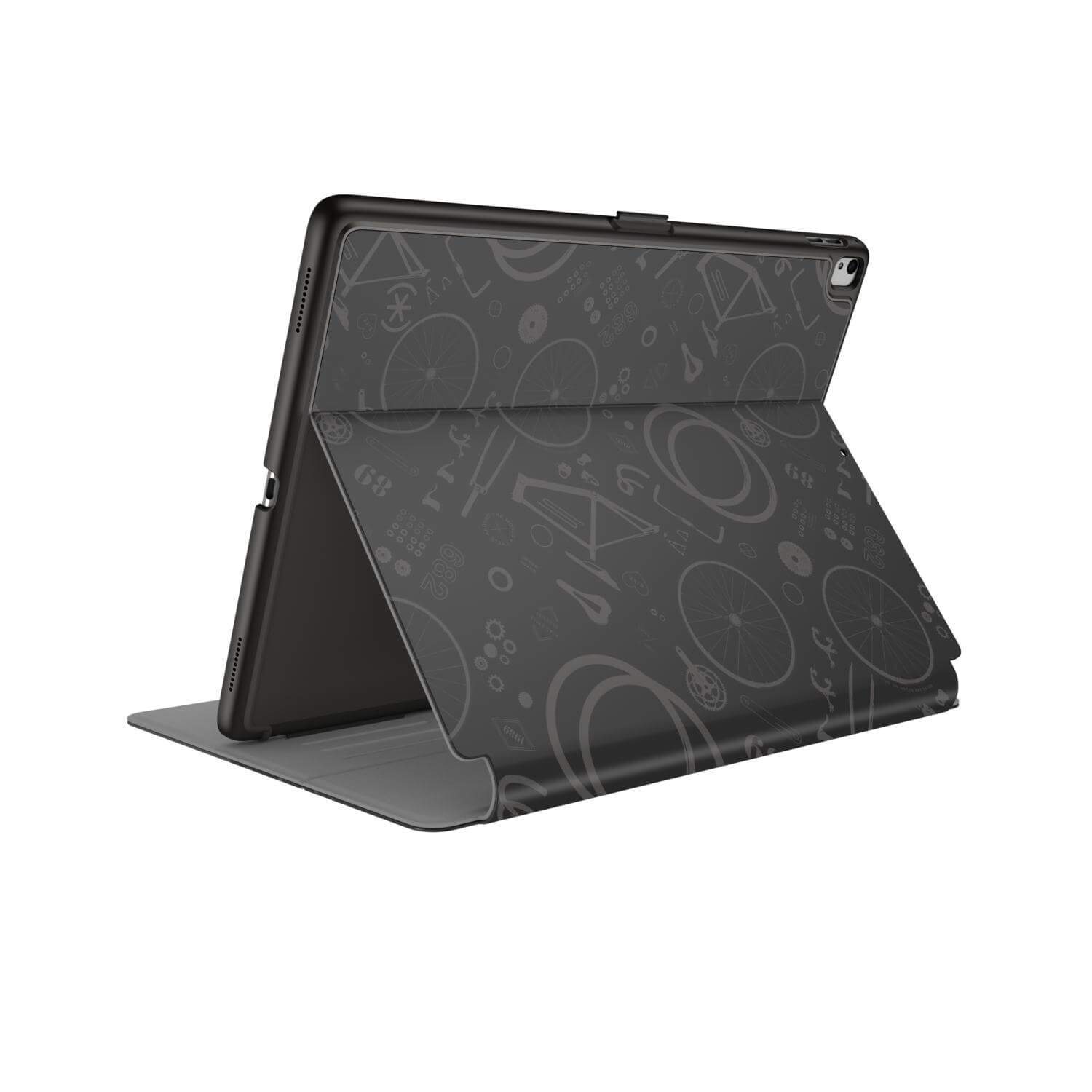 Compare prices for Speck Balance FOLIO PRINT iPad 2017 9.7 inch iPad Pro iPad Air 2 and iPad Air Cases BikeParts Black/Ash Grey