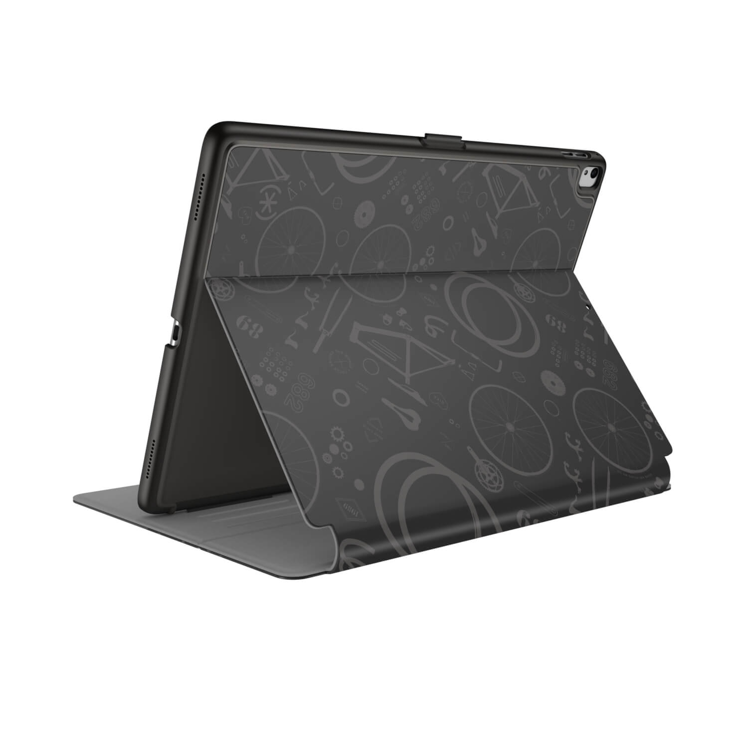 Compare prices for Speck Balance FOLIO PRINT 10.5 inch iPad Pro Cases BikeParts Black/Ash Grey