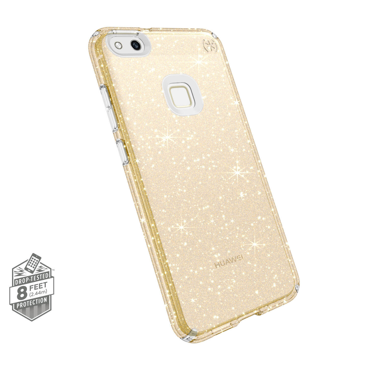 Search and compare best prices of Speck Presidio Clear with Glitter Huawei P10 Lite Cases Clear/Gold Glitter in UK