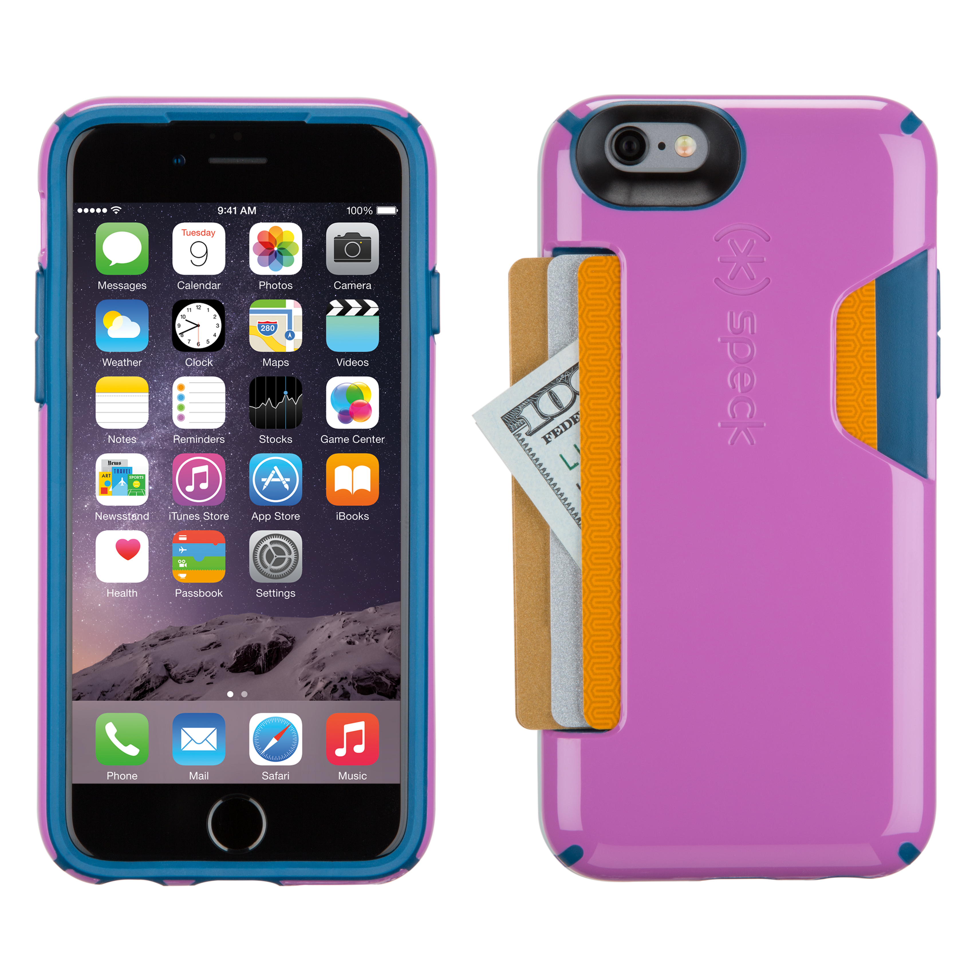 Compare prices for Speck CandyShell Card iPhone 6s and iPhone 6 Cases Beaming Orchid Purple/Deep Sea Blue