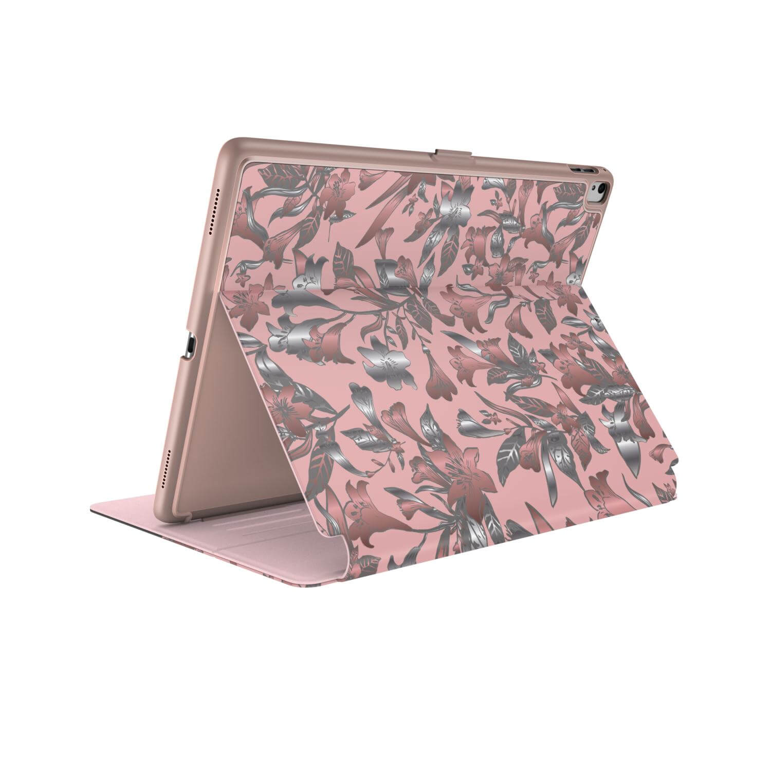 Compare prices for Speck Balance FOLIO PRINT iPad 2017 9.7 inch iPad Pro iPad Air 2 and iPad Air Cases LillyModern Rose Gold/Crepe Pink/Cathedral Grey