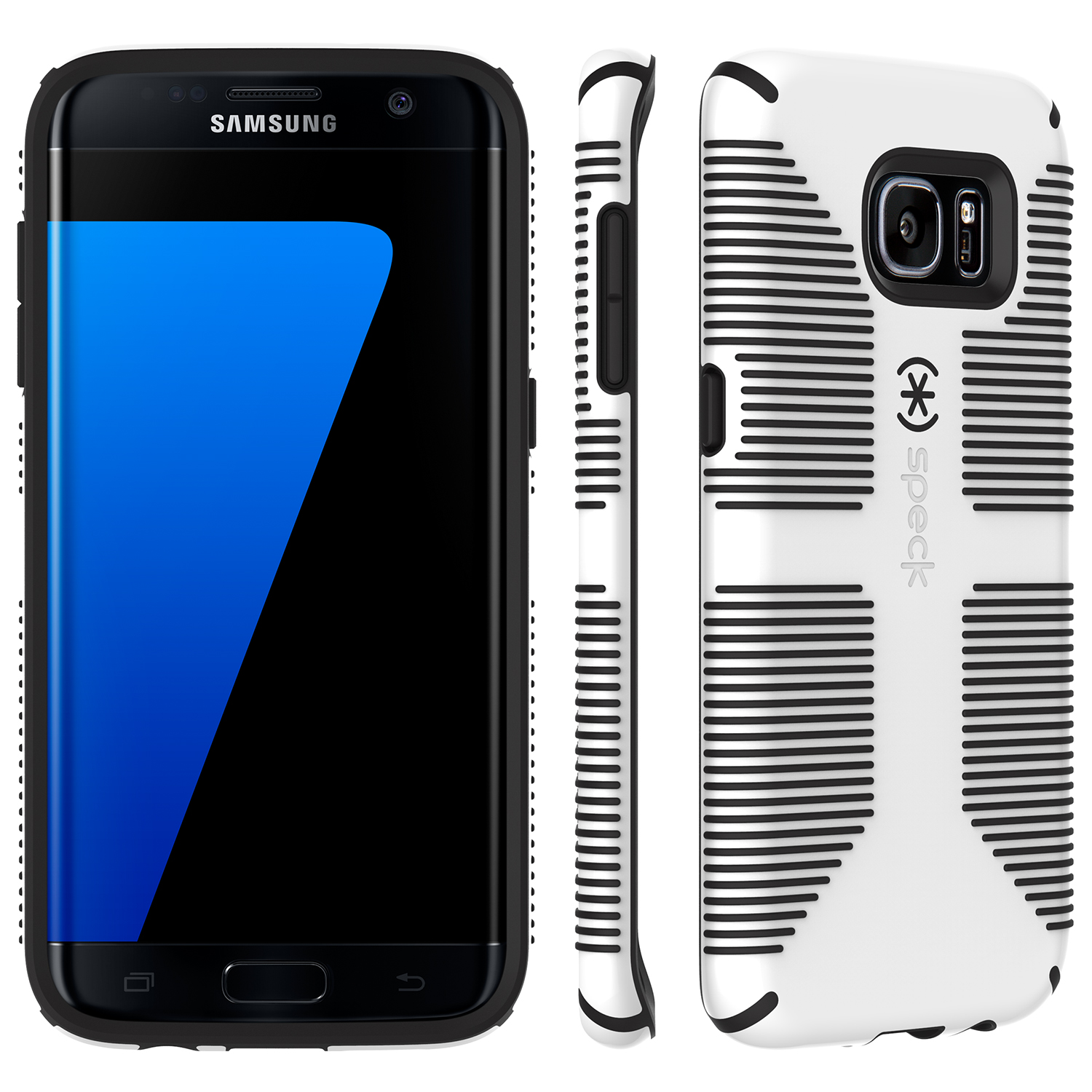 Search and compare best prices of Speck CandyShell Grip Samsung Galaxy S7 edge Cases White/Black in UK